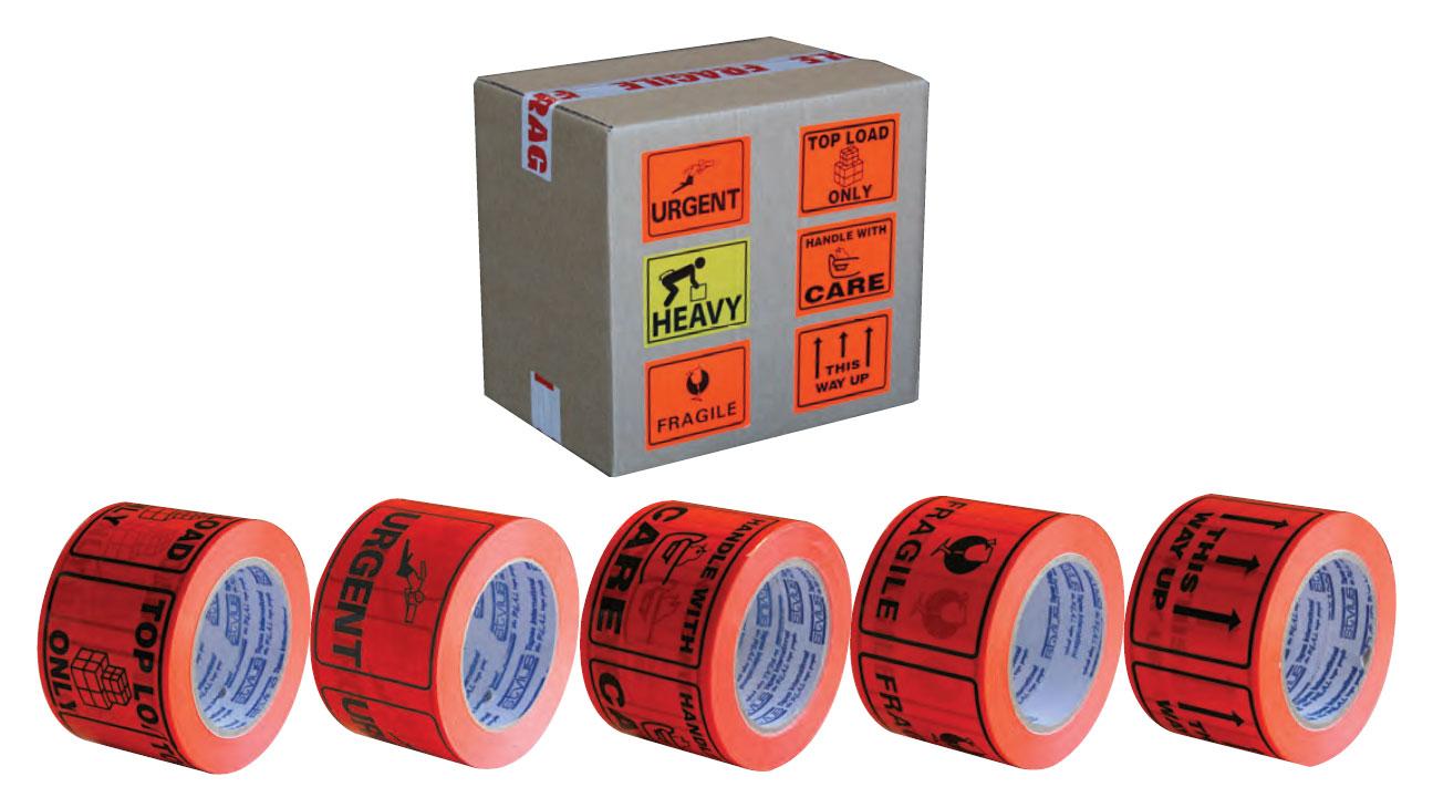 Printed Tape Warning Labels