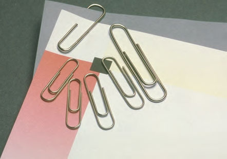 stationery paper clips